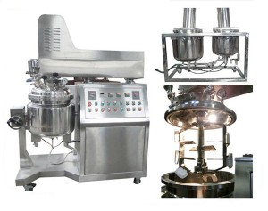 316SS Vacuum Emulsifying Machine for Food, 4KW 100L Vacuum Homogenizer