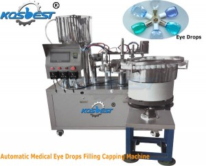 Automatic Medical Eye Drops Filling Capping Machine