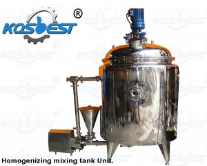 Cusom made homogenizer mixer unit