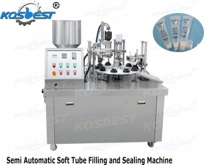 Semi Automatic Soft Tube Filling and Sealing Machine