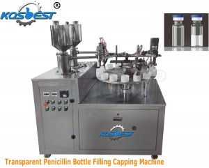 Transparent Penicillin Bottle Filling Capping Machine