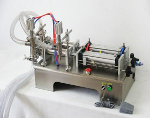 1000-5000ml Double Head Filler, Semi Automatic Liquid Filling Machine