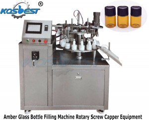 Amber Glass Bottle Filling Machine Rotary Screw Capper Equipment