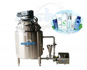 shampoo homogenizing mixing tank