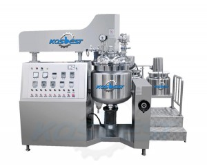Sanitary Cosmetic Homogenizer Mixer Steam Heating Emulsifying Mixer Equipment
