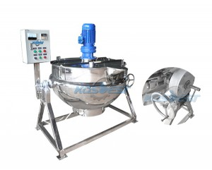 Food mixing kettle