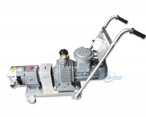 KS-6A Movable Rotary Lobe Pump for Handle the Gas, Liquid, Solid Materials for Food, Cosmetic Transfer Pump