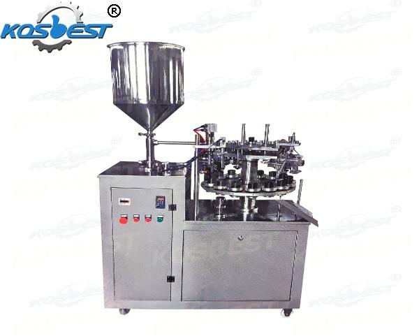 aluminum tube pigment filling and sealing machine
