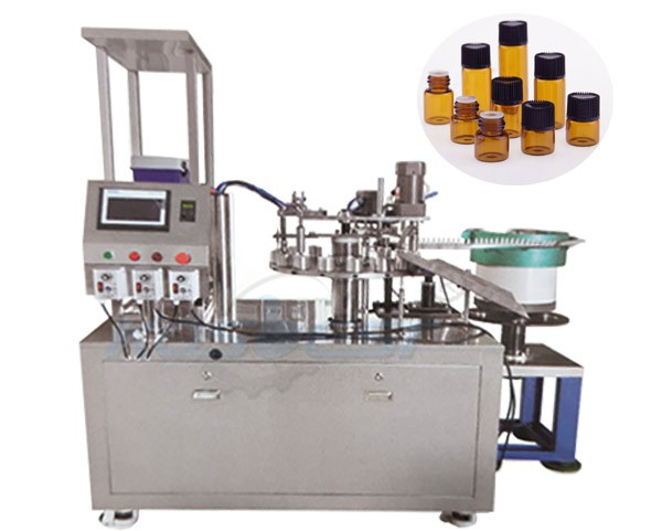 amber glass bottle filling capping machine