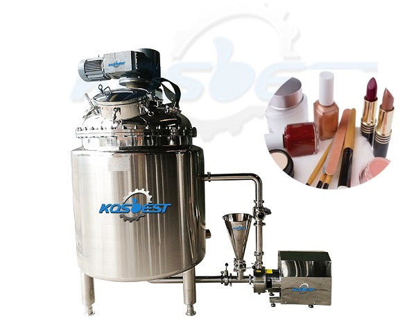 cosmetic homogenizing mixing tank