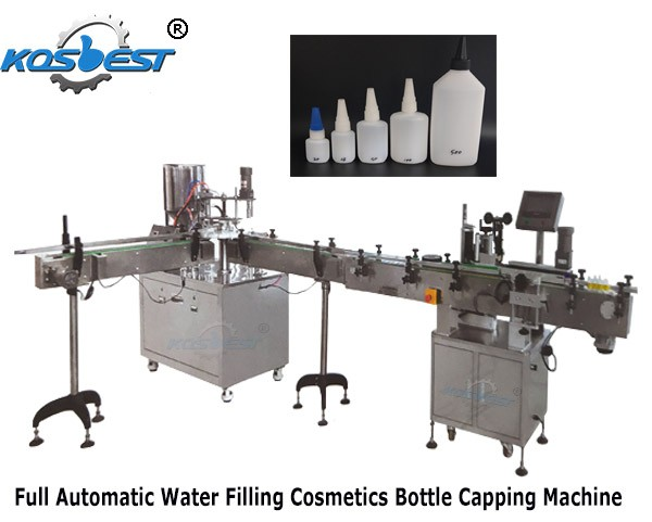 Full Automatic Water Filling Cosmetics Bottle Capping Machine
