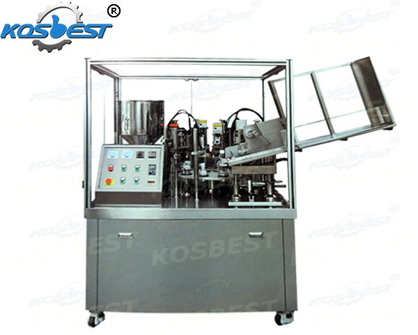 plastic soft tube filling and sealing machine