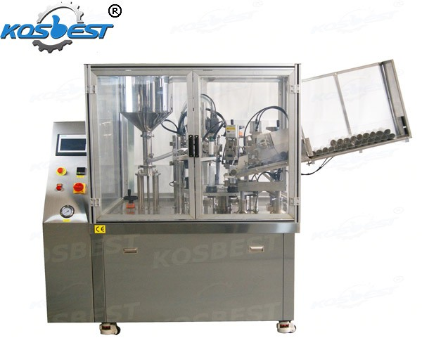 The full atutomatic plastic soft tube filling and sealing machine
