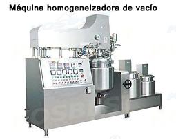 Máquina homogeneizadora de vacío