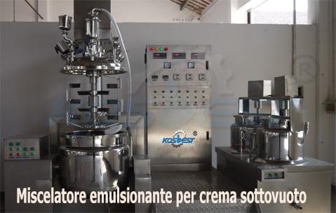 Miscelatore emulsionante per crema sottovuoto