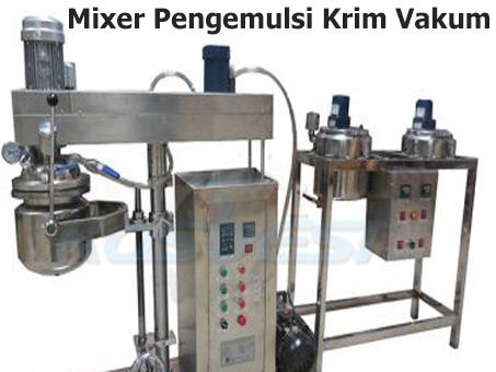 Mixer Pengemulsi Krim Vakum