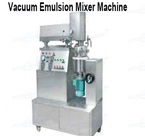 Vacuum emulsion mixer na may emulsifying agitator