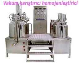 Vakum karıştırıcı homojenleştirici