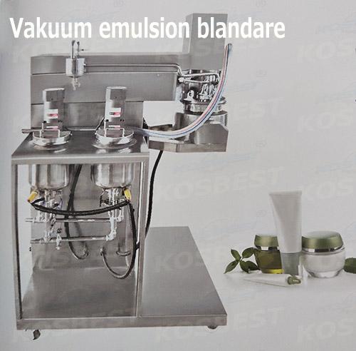 Vakuum emulsion blandare