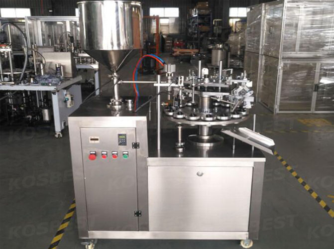 Manufacturing automatic metal tube filling and sealing machine