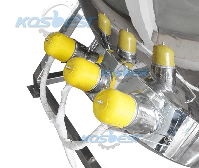 Image of the Heating Rods of the Kos-JC03 Jacket Kettle