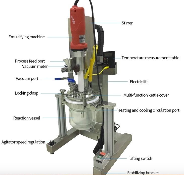 lab vacuum homogenizer mixer