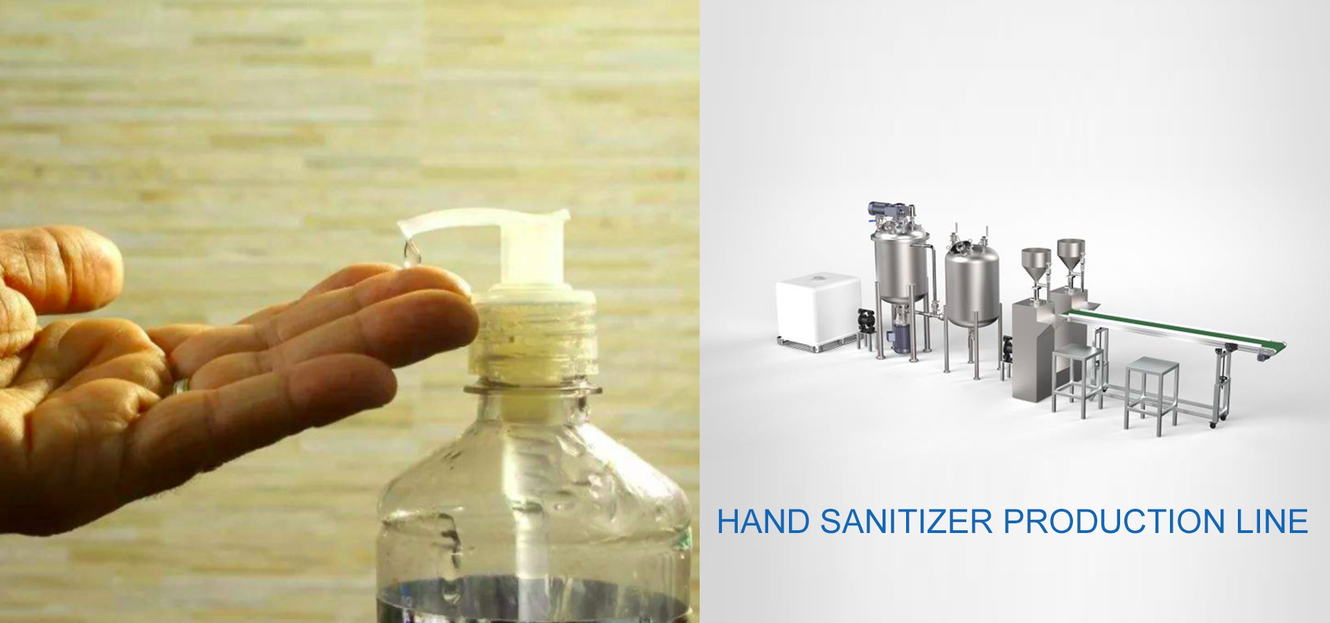 hand sanitizer production line