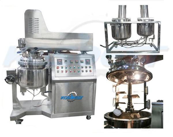 Cosmetics vacuum emulsifying homogenizer machine