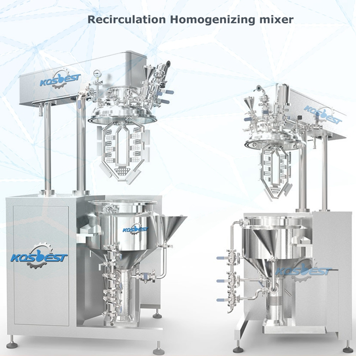 Recirculation Homogenizing Mixer for Facial Cream, Medicine Oint ment