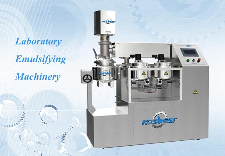 Kos-Z510 Laboratory Vacuum Emulsifying Mixer Machine with lifting frame