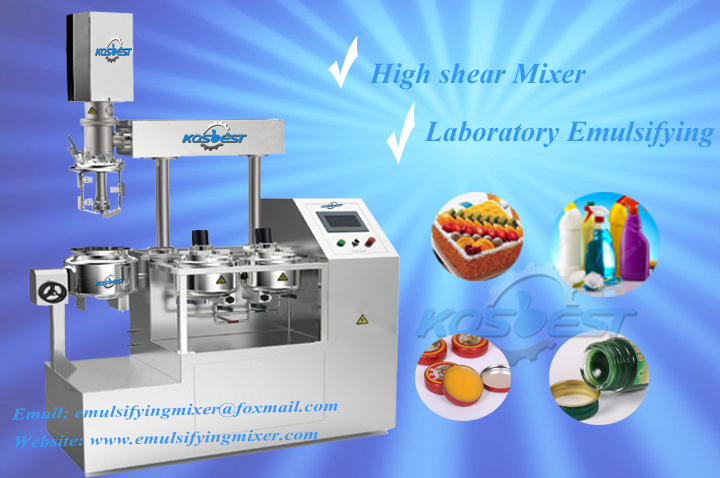 Laboratory Vacuum Emulsifying Mixer Machine with lifting frame for Dairy food production process