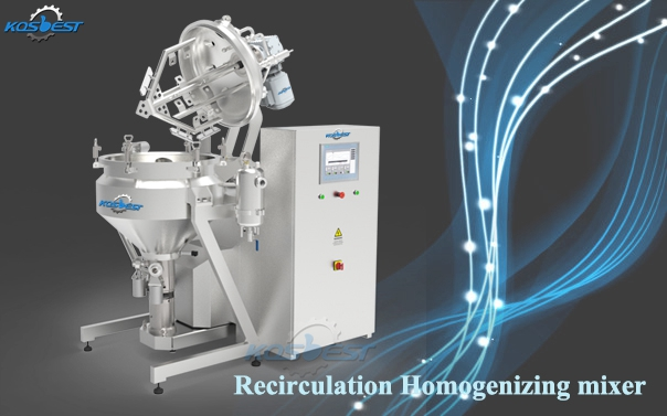 Recirculation Homogenizing Mixer for Cheese and Mayonnaise