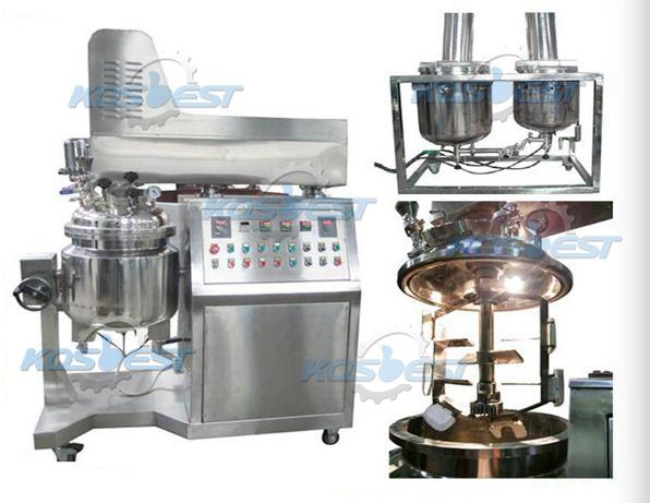 Vacuum homogenizer mixer digunakan untuk homogenizer produk susu, homogenizer mikron, dan laboratorium