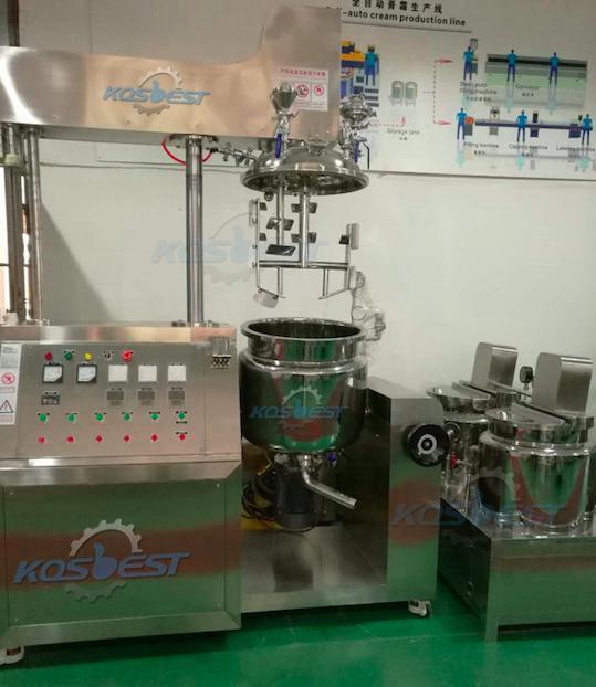 Laboratory vacuum mixer homogenizer
