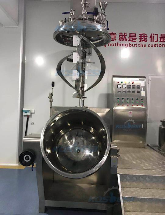 Vacuum mixer homogenizer untuk proses vakum viskositas tinggi