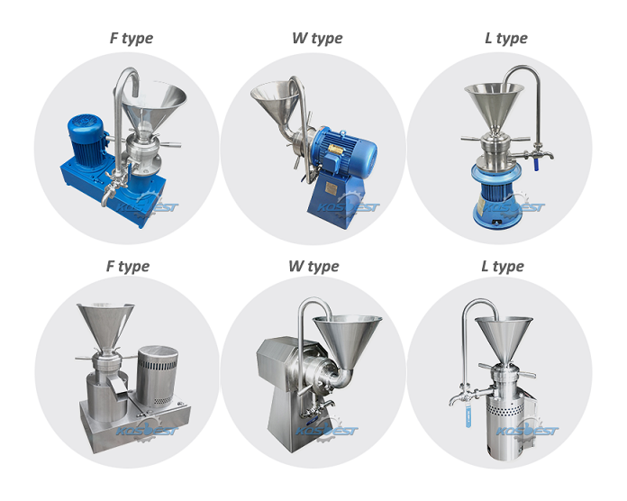 Different three types of colloin mill from KOSBEST