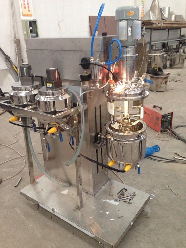 KOS-R5 Lab Emulsifying Mixer Vacuum Homogenizer