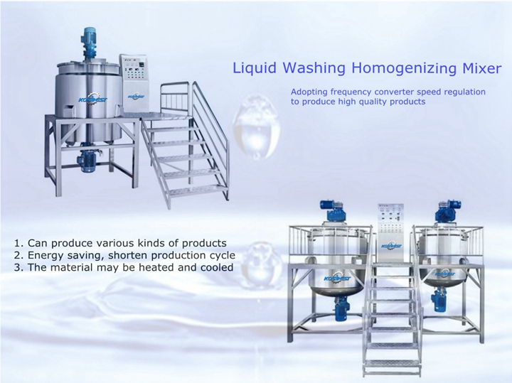 KOSBEST Liquid Washing Homogenizing Mixer Liquid Detergent Production Line