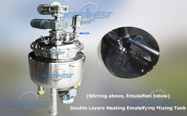 Cosmetic Cream Emulsifying Mixing Tank Homogenizer Equipment