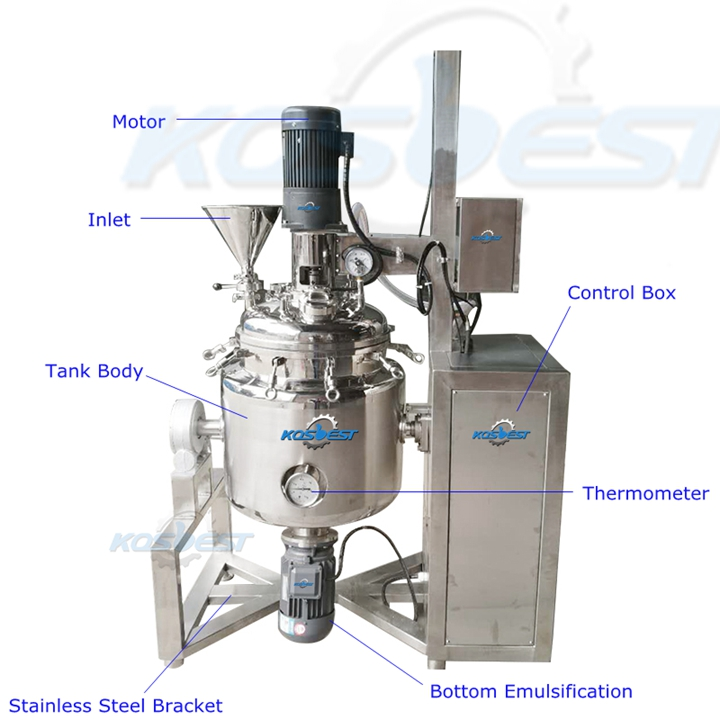 Appearance Structure of the Kos-J15 toothpaste mixing tank