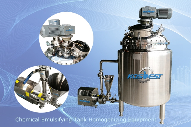 KOSBEST Chemical Emulsifying Tank Stirring Tank Homogenizing Equipment