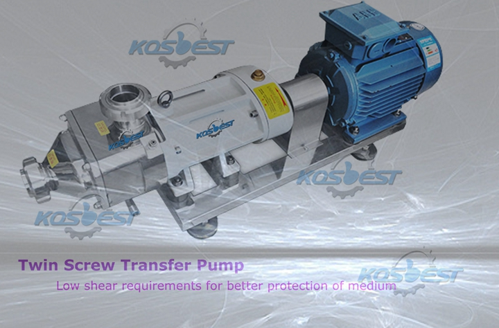KOSBEST Twin Screw Transfer pump for shampoo, lotion, toothpaste.