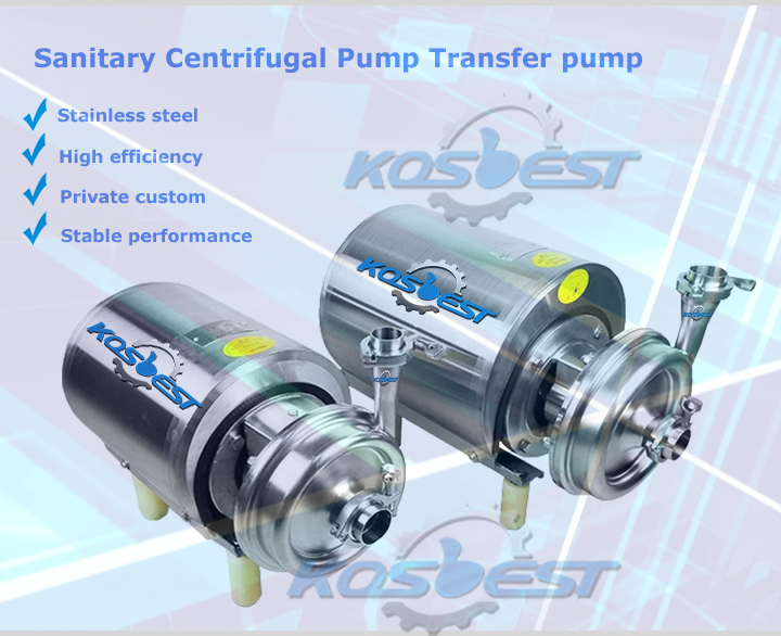 KOSBEST Sanitary Centrifugal Pump Transfer Pump for Milk/Juice/Beer