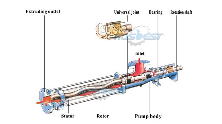 KOSBEST Stainless steel G-type screw pump working principle