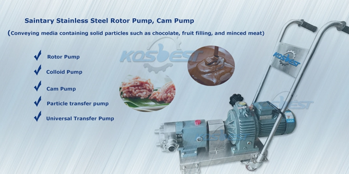 Kos-ZB01 Cam Transfer Pump Rotor Pump Gear Pump for Transferring Medium Containing Solid Particles Chocolate Transfer.