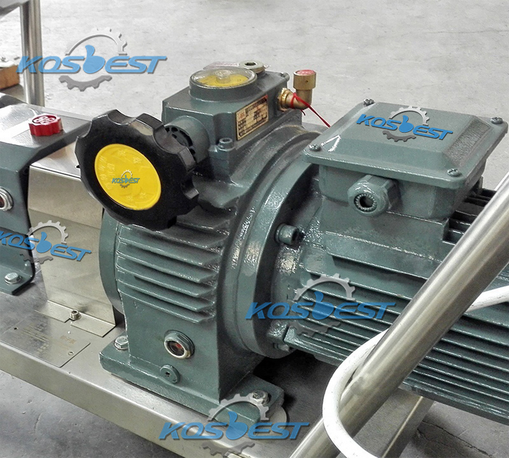 Motor + stepless speed adjusting gear of Kos-ZB01 Rotor Tansfer Pump