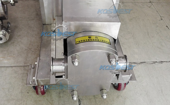 Butterfly type rotor pump: butterfly rotor is used